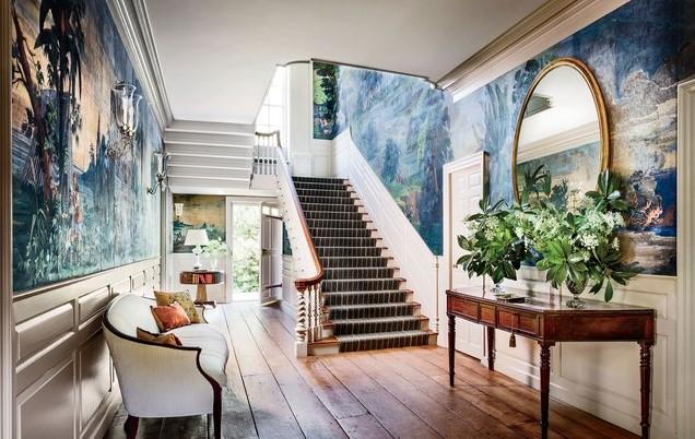 Desain Rumah Minimalis 2 Lantai 6x12 dengan Wallpaper