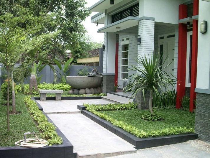 Desain Taman Depan Rumah Sederhana