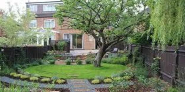 Desain Taman Rumah yang Memiliki Tanaman Rindang