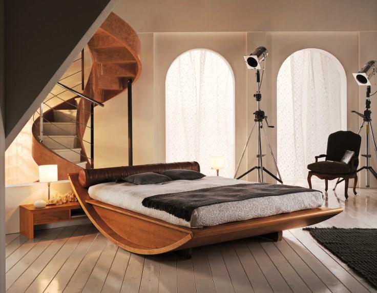 Desain Tempat Tidur Kayu Yang Unik