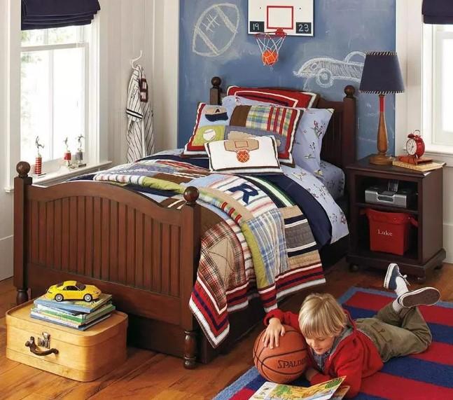 Desain kamar tidur anak penyuka olahraga