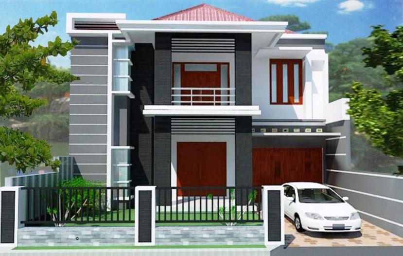 25 Desain Rumah Minimalis 2 Lantai 6x12 Modern Terbaru 2020