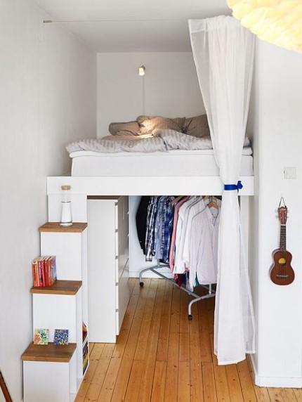 Gambar Desain Kamar Tidur Ukuran Kecil