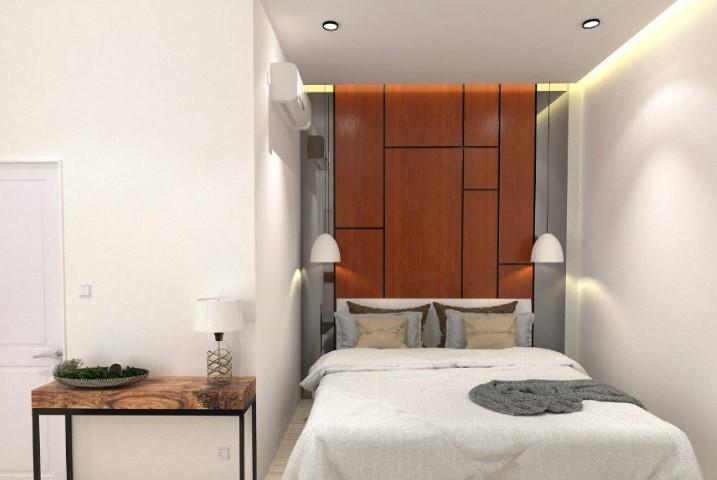 Gambar Interior Kamar Tidur Bentuk L