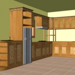 Gambar Kitchen Set Kayu Jati