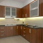Gambar Kitchen Set Kayu Sederhana