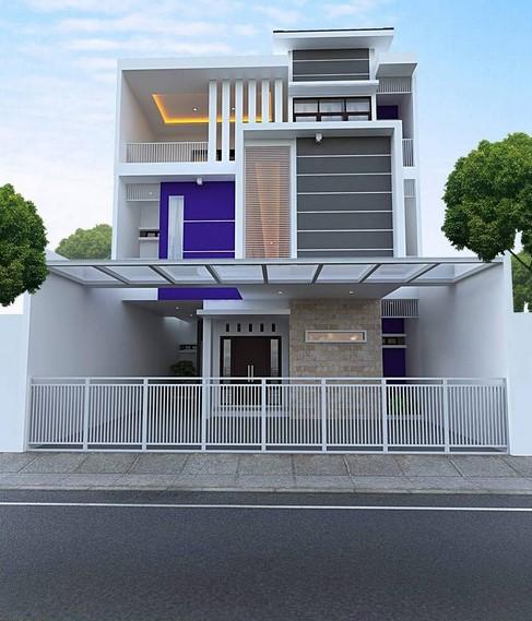Gambar Rumah Minimalis 2 Lantai Tampak Depan