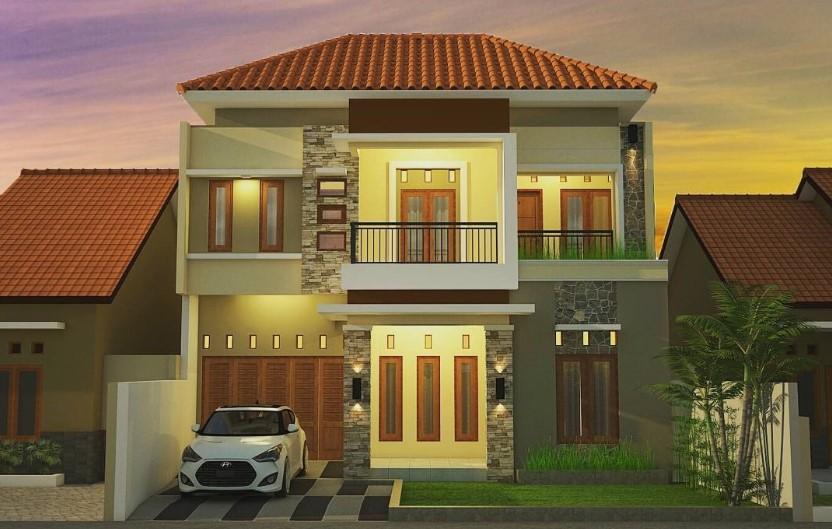 Gambar Rumah Minimalis 2 Lantai Ukuran 6×12