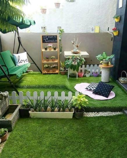 Gambar Taman Sederhana Samping Rumah