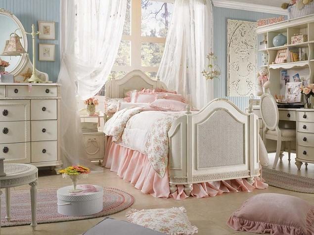 Interior Kamar Tidur Shabby Chic