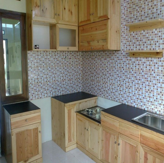 Lemari Kitchen Set Kayu Jati