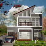 Model Rumah Minimalis 2 Lantai Sederhana 3d
