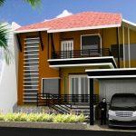 Model Rumah Minimalis 2 Lantai Sederhana Tampak Depan