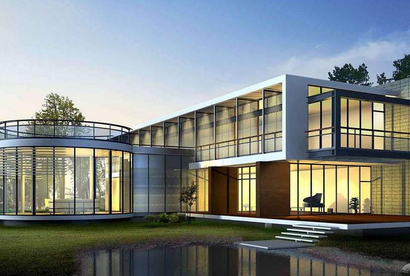 Rumah Mewah Minimalis Modern 2 Lantai Tampak Depan