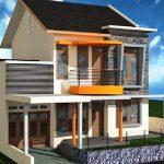 Rumah Minimalis 2 Lantai Tampak Depan Dan Samping