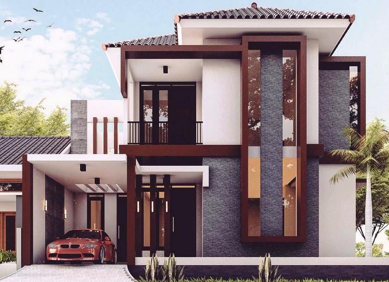 680 Gambar Desain Rumah Minimalis 2 Lantai Mewah Terbaik Download