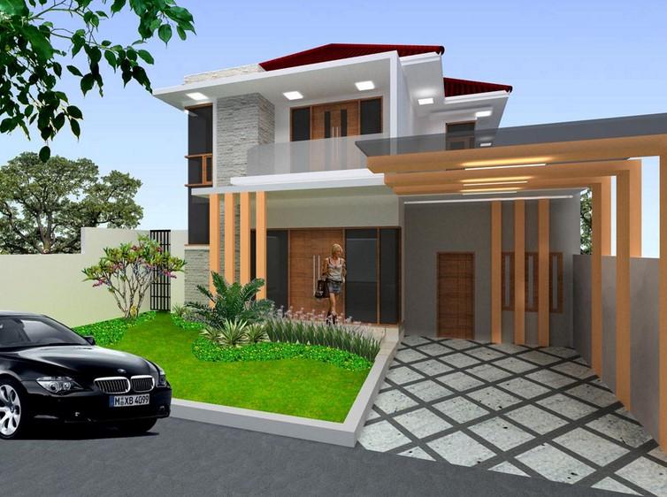 Rumah Minimalis 2 Lantai Tampak Depan Sederhana