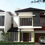 Rumah Minimalis Batu Alam Tampak Depan 2 Lantai