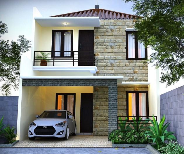 Rumah minimalis 2 lantai luas 72 meter persegi