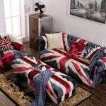 Sofa Tamu Minimalis Motif Bendera Inggris