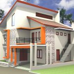 Tampak Depan Rumah Minimalis 2 Lantai Autocad