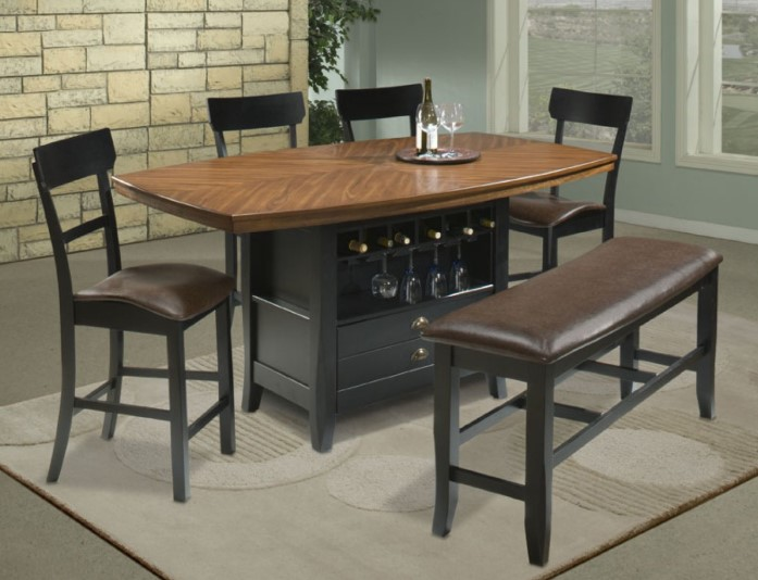Wooden Top Table Kitchen Set