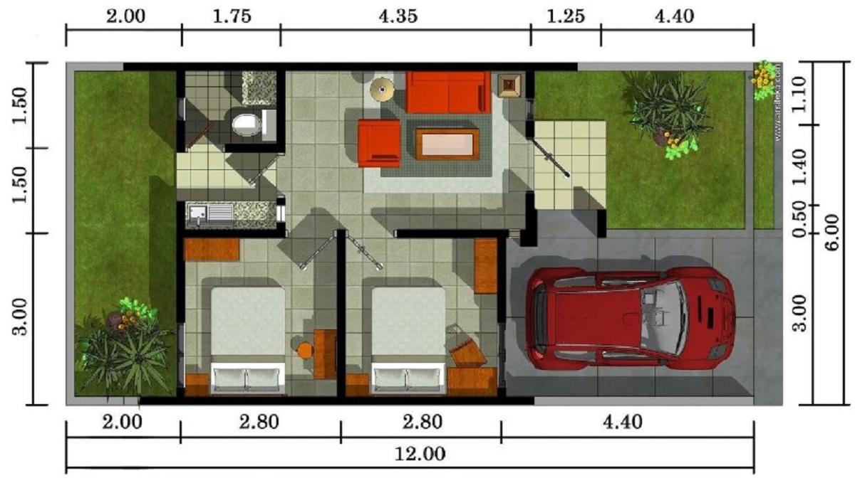 Contoh Gambar Rumah Minimalis 3 Kamar Tidur