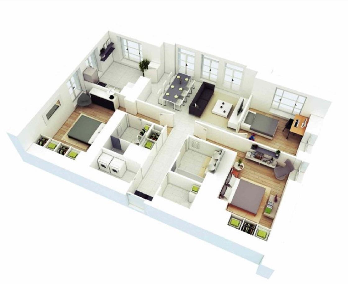 Contoh Gambar Rumah Minimalis 3 Kamar