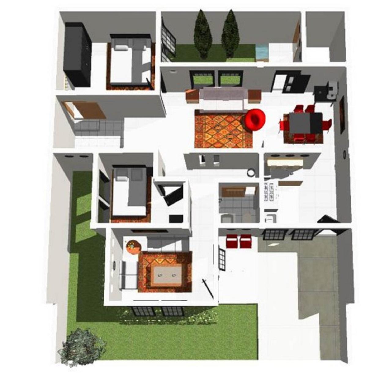 Contoh Sketsa Rumah Minimalis 3 Kamar