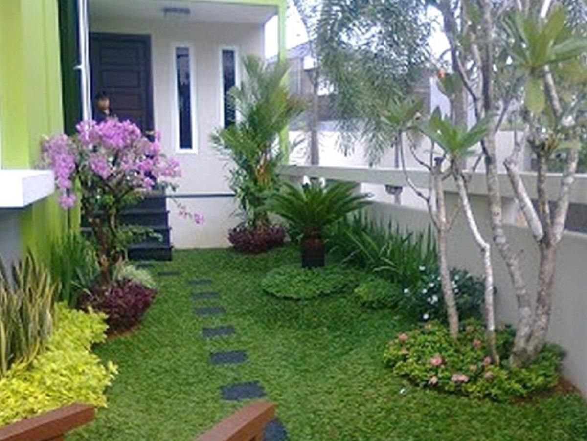 Dekorasi Taman Bunga Minimalis