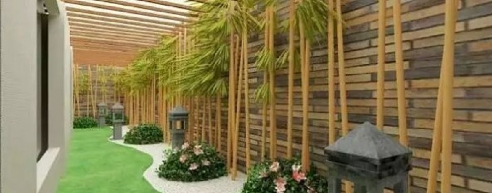 Dekorasi Taman dengan Ornamen Bambu