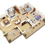 Denah Rumah 3 Kamar Minimalis