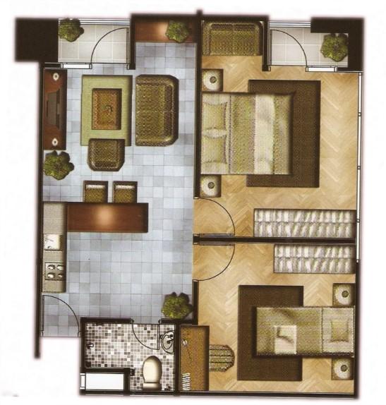 Denah Rumah Kayu 3 Kamar