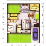 Denah Rumah Minimalis 1 Kamar