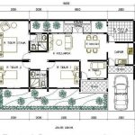 Denah Rumah Minimalis 3 Kamar Tidur Ukuran 7x12