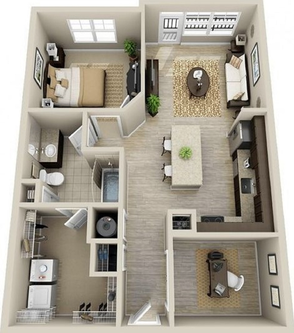 Denah Rumah Minimalis 6x10