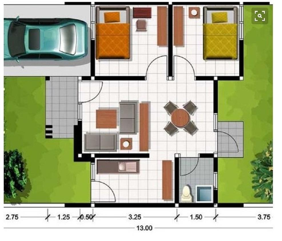 Denah Rumah Minimalis 6x9