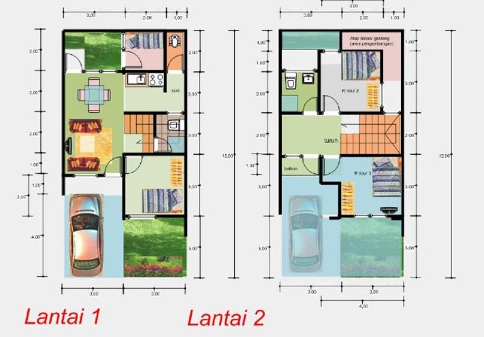 87+ Gambar Rumah 2 Lantai Ukuran 7x12 Terbaru
