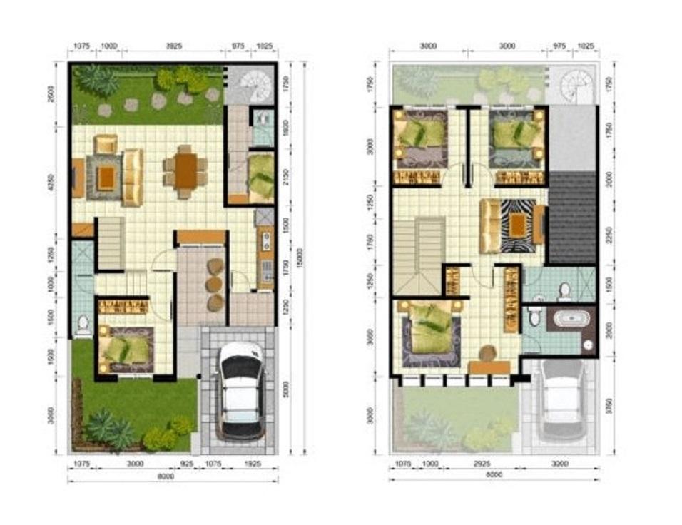 Denah Rumah Minimalis Lantai 2