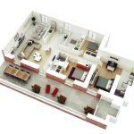 Denah Rumah Minimalis Modern Bata Ekspos