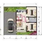 Denah Rumah Minimalis Modern Berukuran Kecil