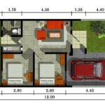 Denah Rumah Minimalis Modern Type 36