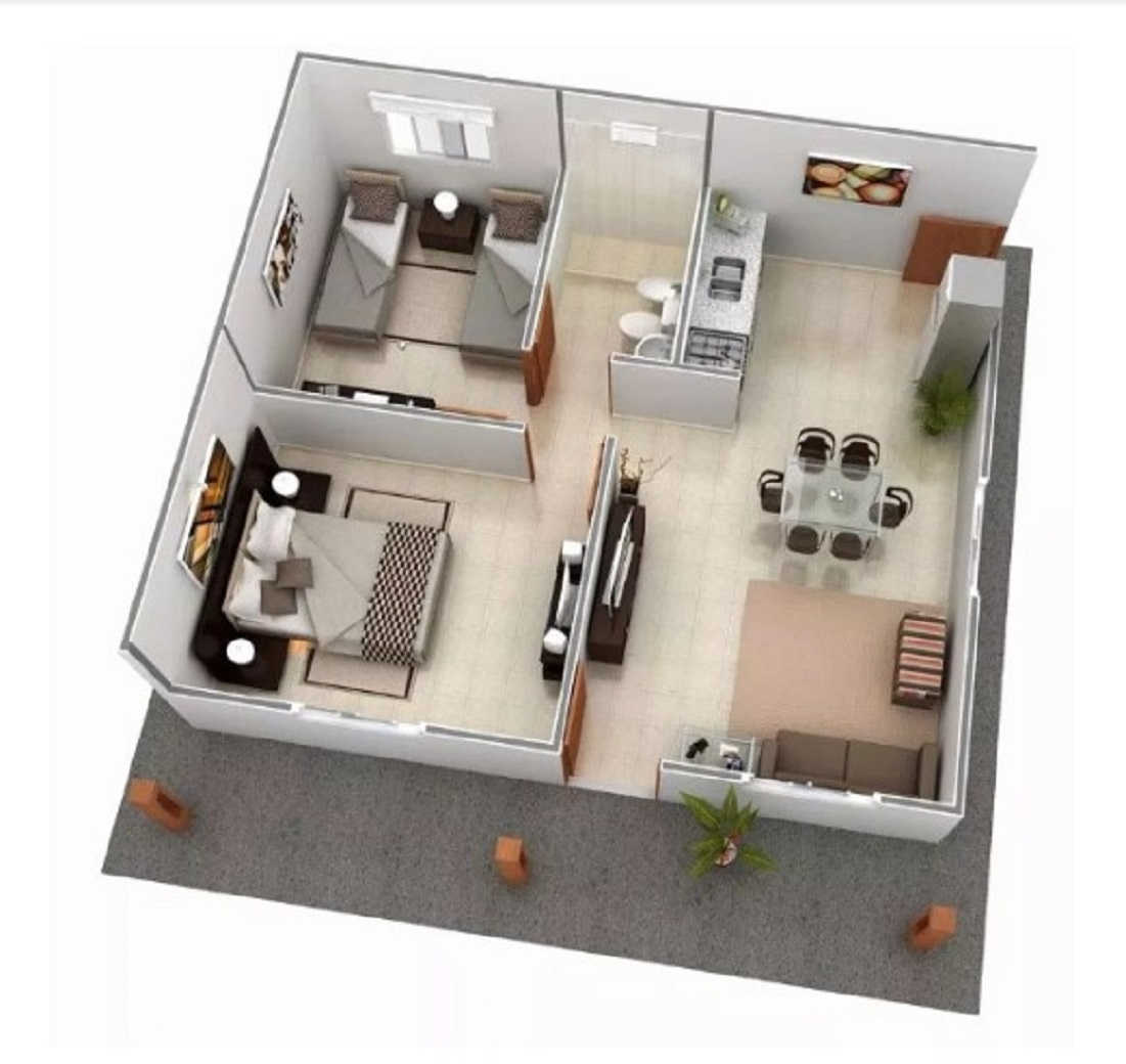 Denah Rumah Minimalis Sederhana Bentuk Modular