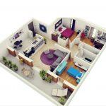 Denah Rumah Minimalis Sederhana dengan Konsep Peristirahatan