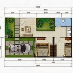 Denah Rumah Minimalis Sederhana dengan Taman