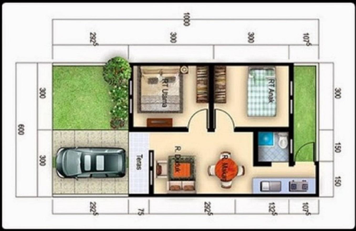 Denah Rumah Minimalis Sederhana yang Nyaman