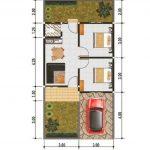 Denah Rumah Minimalis Type 21