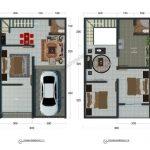 Denah Rumah Minimalis Type 36 2 Lantai