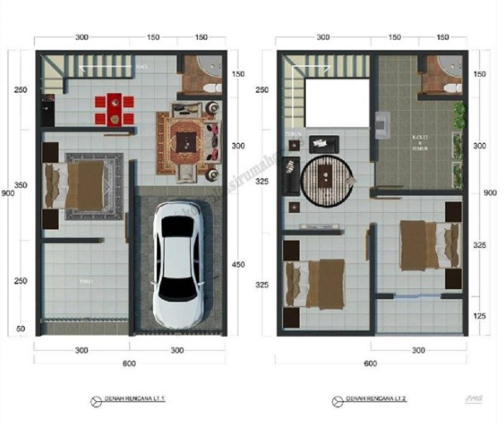 60 Gambar Denah Rumah Minimalis Modern Trend 2020