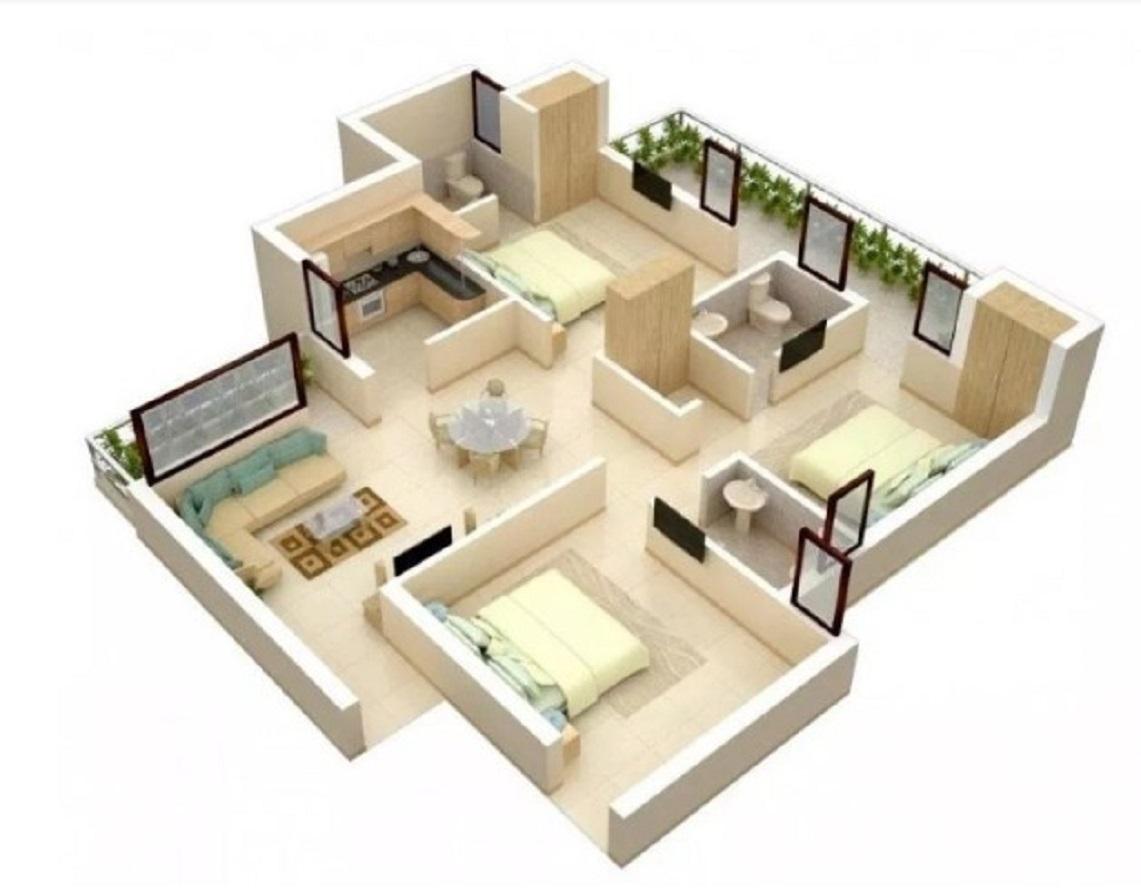 Denah Rumah Minimalis Type 36 3 Kamar